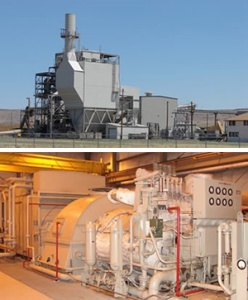 Figure 2 and 3: Honey Lake power plant  (Source: Greenneaf LLC 2012: http://www.greenleaf-power.com/facilities/honey-lake.html)
